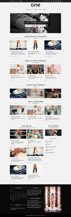 One – Minimal Wordpress Magazine Theme