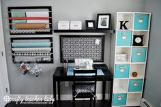 Home office organization ikea cubbies Ideas Small Office Organization, Room Organization, Organizing Life, Office Setup, Organizing Ideas, Office Ideas, Home Office Space, Home Office Decor, Home Decor