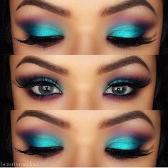 i've always said to never do blue eyeshadow, but this one would work on certain people ( grey eyes, brown #eyes )
