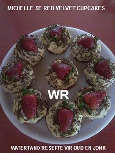 Picture South African Recipes, Ethnic Recipes, Homemade Dinner Rolls, Red Velvet Cupcakes, Afrikaans, Cookie Recipes, Muffins, Recipies, Mint