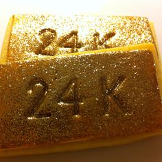 24k cookies by My Cookie Couture
