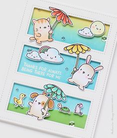 Hi everyone! Today I want to share my card for Simon Says - Mama Elephant Stamptember Rain Or Shine . This stamp set is so cute and adorable...