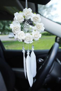 Christian Car Charms Dream Catcher I Love Jesus Religious Car Accessories Gifts for Women Friends Girls Artesanato de crochê Car Accessories Gifts, Car Accessories For Girls, Diy Gifts For Mom, Gifts For Women, White Paper Flowers, Rear View Mirror Accessories, Operation Christmas Child, Religious Gifts, Jesus Loves Me