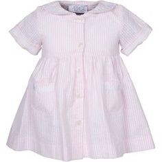 Magil - seersucker striped collared dress  $38.00