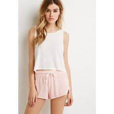 Forever 21 Drawstring Dolphin Shorts (€9,77) ❤ liked on Polyvore featuring shorts and forever 21