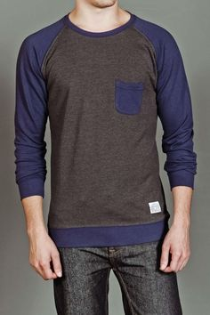Raglan Crew Neck. Boyfriend would look hot in this.... Just kidding bc I'm freekin single and will be forever alone!