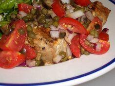 Grilled Tuna with Cherry Tomato Salsa Recipe on Yummly
