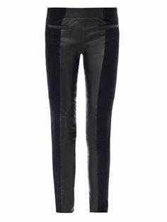Idris suede & leather trousers | Isabel Marant | MATCHESFASHIO...