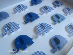 SAMPLE Little Boy Blue 3D Baby Elephant Whimsy Collage. Medium Blue Shades. 5X7. Made to Order on Etsy, $27.23 CAD