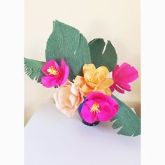 Crepe Paper Tropical Flowers