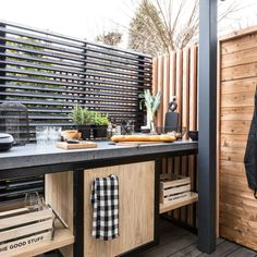 Rustic Outdoor Kitchens, Outdoor Kitchen Patio, Outdoor Kitchen Design, Outdoor Lounge, Outdoor Rooms, Outdoor Furniture Sets, Outdoor Decor, Bar Shed, Privacy Screen Outdoor