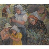 Orovida Camille Pissarro Summer-picking peas, 1946