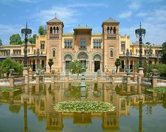 Sevilla, Spain... I used to pass this building every day on my walk to school.  So beautiful!