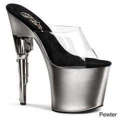 Pleaser Women's 'bondgirl-701' Gun Heel Platform Sandals