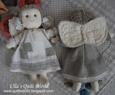 Ulla's Quilt World: Angel and pattern, quilt