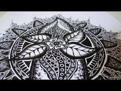 Zentangle Zeichnung #4 * Zeitraffer - YouTube