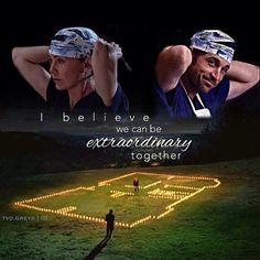 I believe we can be extraordinary together - season 4 finale ❤️ ferry boat scrub cap greys anatomy