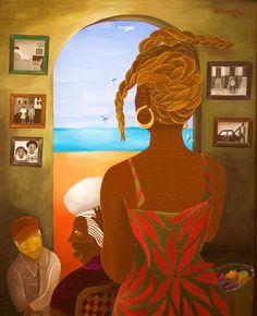 The elder sister African American Artist, American Artists, Laura James, Black Sisters, State Art, Black Art, Illustration Art, Fine Art, Artwork