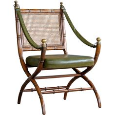 Danish Campaign Style Chair in Carved Oak, 1960s - Image 1 of 5