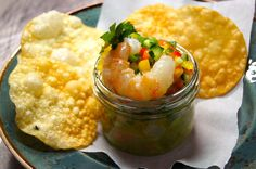 BC Spot Prawn Ceviche from @Mandy Dewey Seasons Hotel Vancouver YEW seafood + bar. Click through for this fresh #recipe.