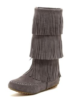 Fringe Moccasin Boot I like the boots but don't care for all that fringe