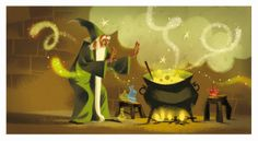 Merlin by Annette Marnat Illustration Design Graphique, Art Et Illustration, Character Illustration, Art Disney, Wicca, Animation, Expo, Mail Art, Art Reference