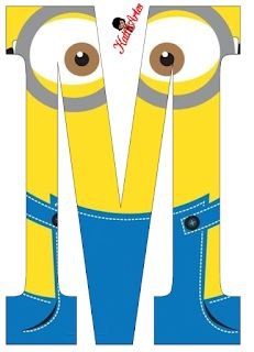 Typography - Minion Alphabet - Letter M Minion Theme, Minion Birthday, Minion Party, My Minion, Birthday Themes For Boys, 1st Birthday Parties, Frog Princess, Alphabet And Numbers, Alphabet Letters