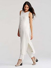 Icon Sleeveless Duster in Silk Georgette Crepe