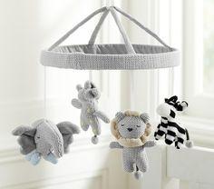 Elephant Baby Mobile Crochet Elephant Crochet Baby Gift