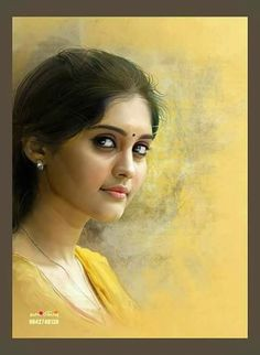 Indian Art Gallery, Star Painting, Most Beautiful Indian Actress, Love Pictures, Pencil Art, Art Girl, Color Mixing, Portrait Photography, Sketches