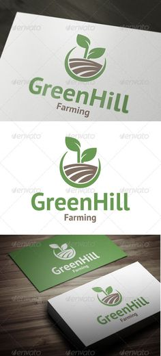 Green Hill - Vector - Resizable, easy to edit - AI, EPS files Font Used – PT Sans .fontsquirrel /fonts/PT-Sans Created: GraphicsFilesIncluded: VectorEPS Layered: Yes MinimumAdobeCSVersion: CS Resolution: Resizable Tags: agriculture Typography Logo, Logo Branding, Branding Design, Lettering, Brand Identity, Letterpress Business Cards, Business Logo, Business Card Design, Hill Logo