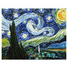 I pinned this Starry Night Ceramic Wall Tile from the Vincent Van Gogh event at Joss and Main!