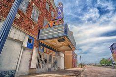 Abandoned movie theater, Cairo, Illinois