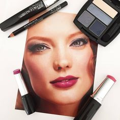 We're all about cool gray eyes paired with a berry bold lip! #AvonMakeup
