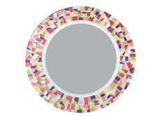 Round Mosaic Wall Mirror Colorful Home Decor by GreenStreetMosaics