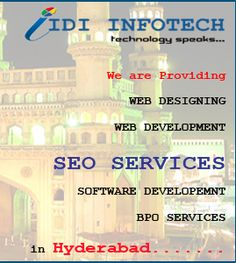 IDI Infotech is a leading SEO Company in Hyderabad, providers of Best SEO, Top SEO Services and Cheap Search Engine Optimization, SEO Packages at Affordable SEO Prices to clients across all business sectors. Seo Packages, Best Seo Services, Best Web Design, Seo Company, Search Engine Optimization, Hyderabad, Web Development, Technology, Business