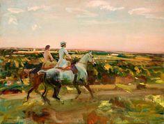 """Two Lady Riders Under An Evening Sky"" by Sir Alfred James Munnings United Kingdom) Equestrian Art, Art Painting Oil, Animal Art, Art Uk, Art, Sky Art, Evening Sky, Horse Art, Animal Drawings"