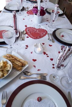 Valentine's Day Table Display; Dinner