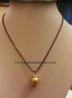 Fancy Light Weight Black Beads from Ganesh Gold Mangalsutra Designs, Gold Earrings Designs, Gold Jewellery Design, Bead Jewellery, Necklace Designs, Beaded Jewelry, Latest Jewellery, Ring Designs, New Foto