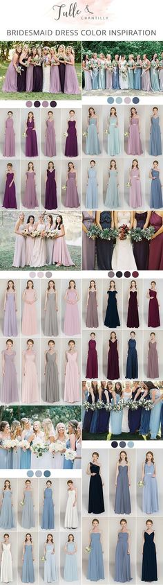 mix and match bridesmaid dresses inspired by popular wedding colors Pinterest @MANARELSAYED