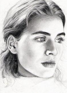 Portrait Au Crayon, L'art Du Portrait, Pencil Portrait, Drawing Now, Drawing People, Painting & Drawing, Beautiful Pencil Drawings, Realistic Pencil Drawings, Art Visage