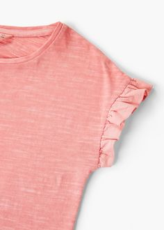 T-shirt à volant en coton bio
