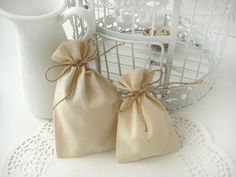 Muslin favor bags - Set of 50- Wedding favor bags -DIY wedding favor bags-Baby Shower- 4x6. $35.00, via Etsy.