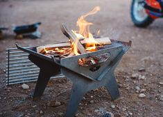 Small Firepit and Grill – Fold-A-Flame Portable Barbecue, Grill Sale, Rocket Stoves, Plasma Cutting, Metal Projects, Blacksmithing, Firewood, Metal Working, Traveling By Yourself