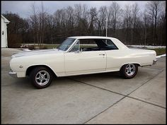 1965 Chevelle Malibu SS.  My second car, but it wasn't a SS.  And it had 4 doors.  But it was white!  Oh, and it was 1964.