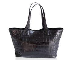 "Crocodile Handbag ""Ravenna"""" www.atelierdoutremer.com Crocodile Handbags, Ravenna, My Collection, Tote Bag, Fashion, Moda, Fashion Styles, Totes, Fashion Illustrations"