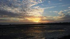 Zonsondergang over het wad van Schiermonnikoog
