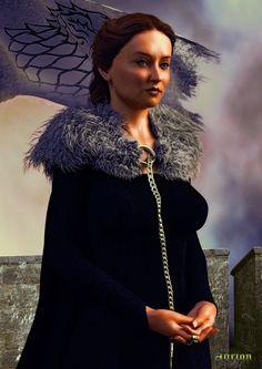 Sansa Stark - Lady of Winterfell by Agr1on