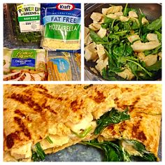 Advocare on a budget! Yes you can have quesadillas on the 24 day challenge! Save this recipe for max phase though, since it does include cheese. Whole grain tortilla (complex carb), Tyson grilled chicken (protein), baby kale or spinach (vegetable), and fat free mozzarella cheese to hold it all together! One quesadilla cut into fourths - 2 pieces a serving. This meal provides two lunches for meal prep and you can add all natural salsa if needed. Enjoy!