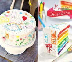 Trend Alert: Doodle Cakes & Cake Bars from contributor Tonya Coleman of Soiree Event Design :) http://hwtm.me/VT3DZJ